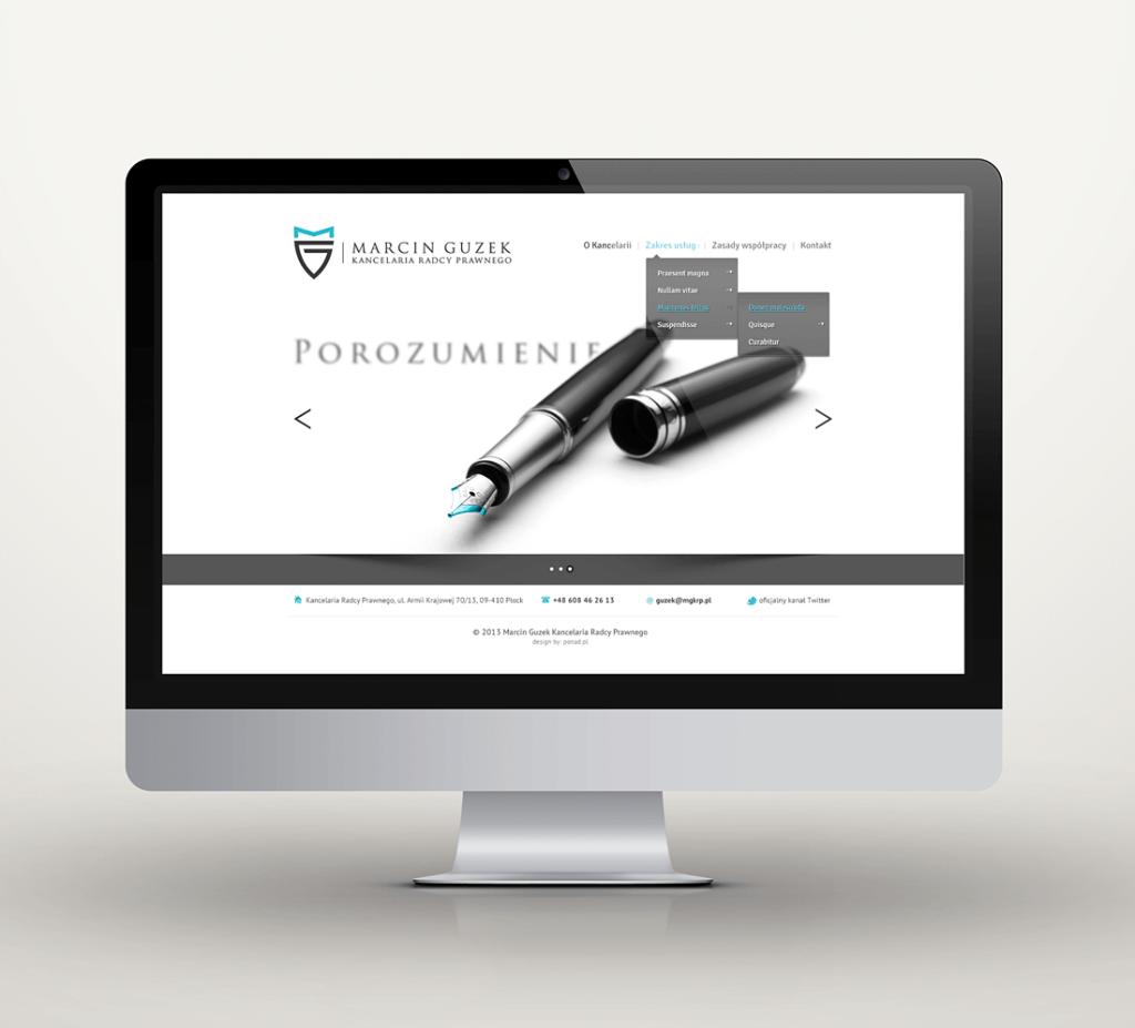 Projekt strony www dla kancelarii prawniczej