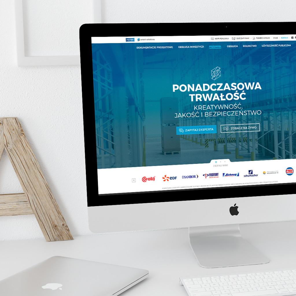 Strona www dla firmy Smart Solutions