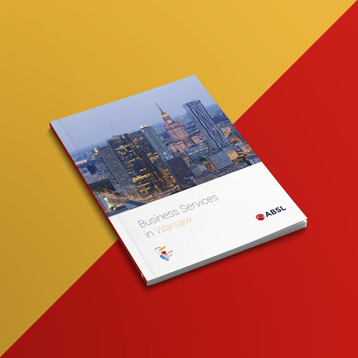 Usługi biznesowe w Warszawie - projekt graficzny raportu i skład DTP raportu