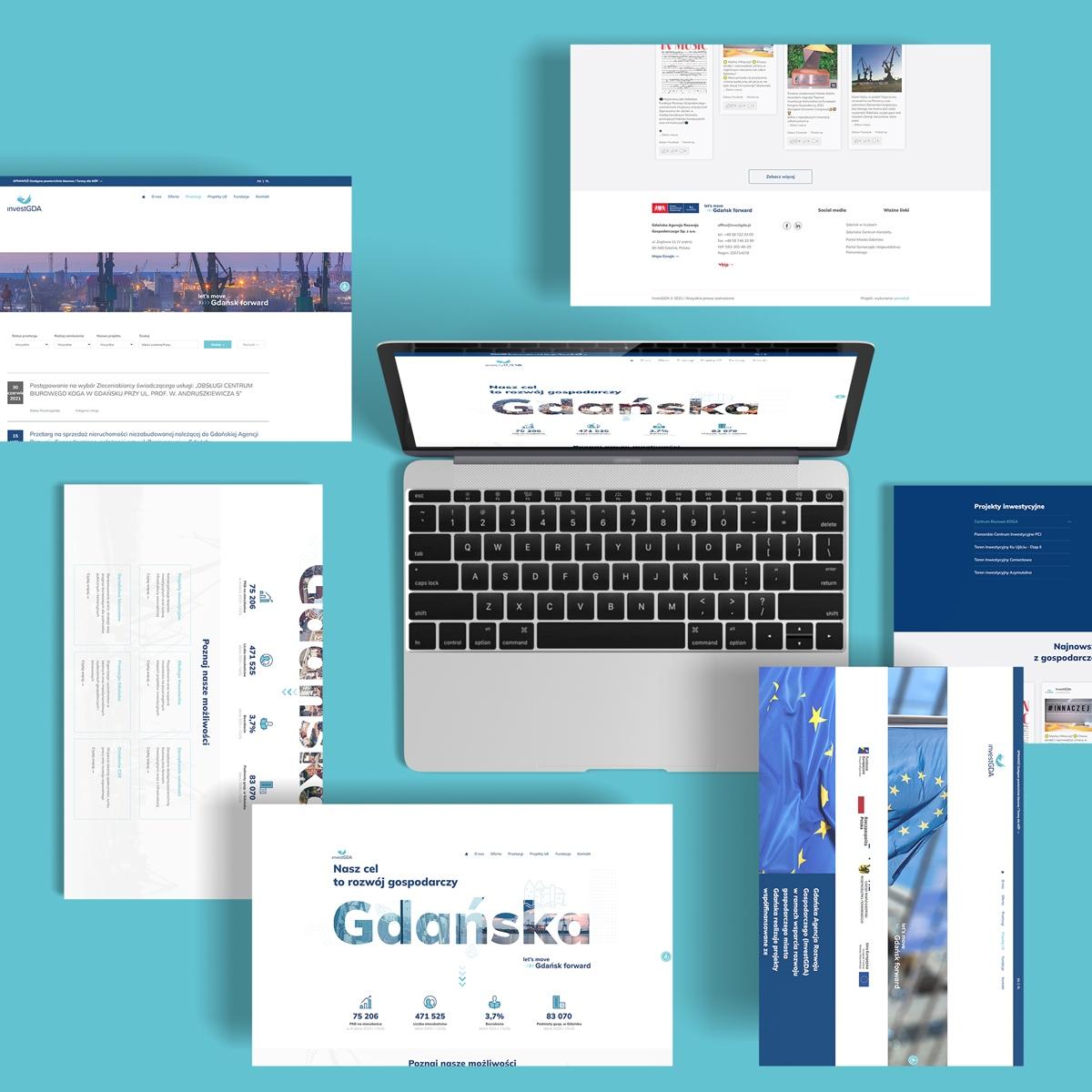 Proces tworzenie strony www InvestGDA
